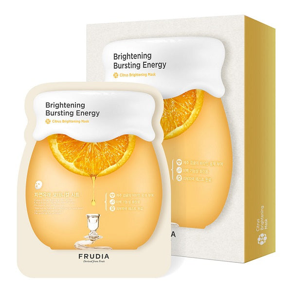 Set 5 măști faciale pentru luminozitate cu extract de citrice, Frudia, Citrus Brightening Mask