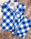 Buffalo Check Sateen Capri Pajama Set