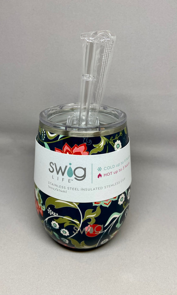 Swig - Lotus Blossom Stemless Wine Cup (14oz)