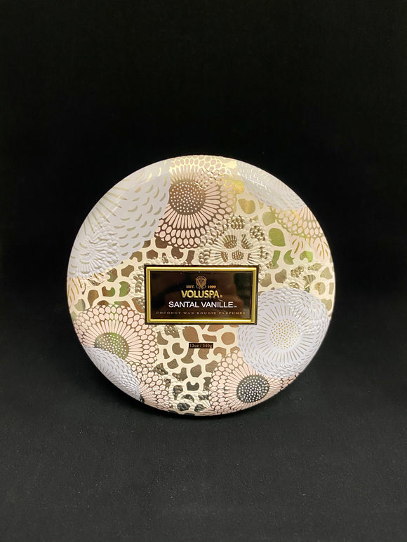 Voluspa - SANTAL VANILLE 3 WICK TIN CANDLE