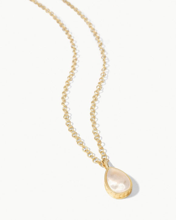 Naia Teardrop Necklace Pearlescent