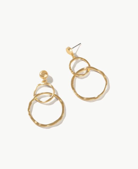 Ring Toss Gold Earrings