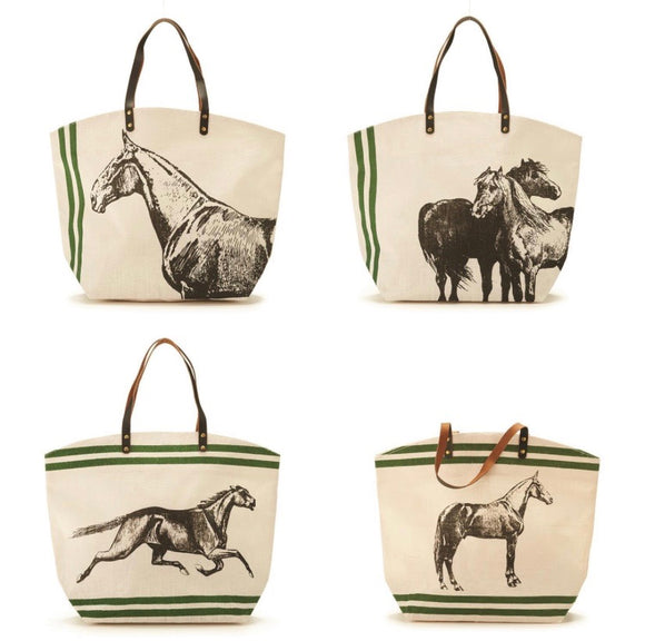 Jute Bags with Horse