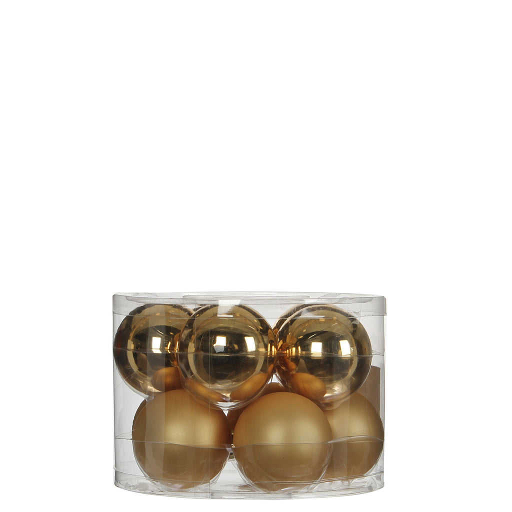 Bauble Glass Gold 10 pieces