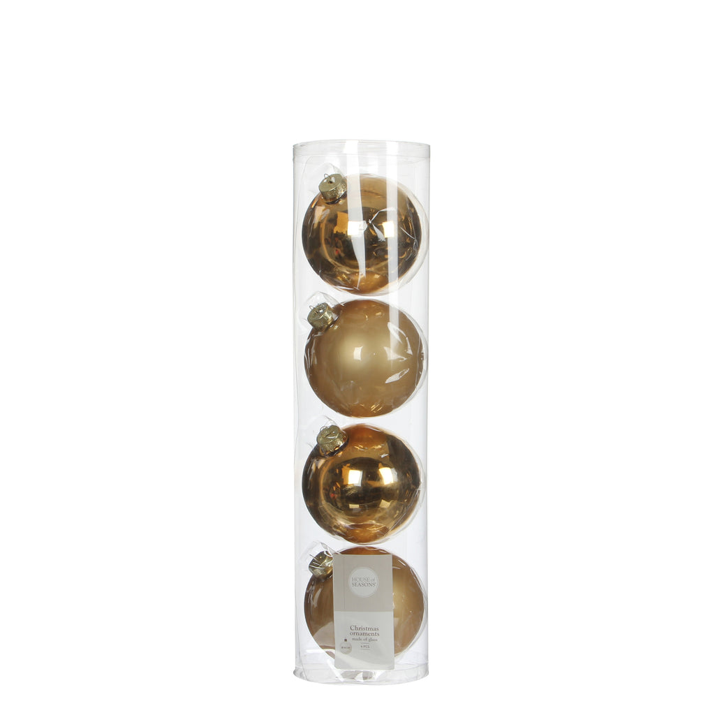 Bauble Glass Gold 4 pieces