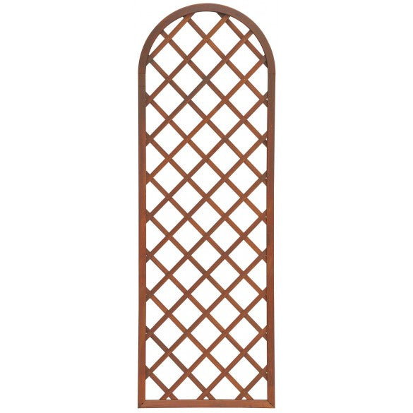 European pine fixed trellis with arched frame
