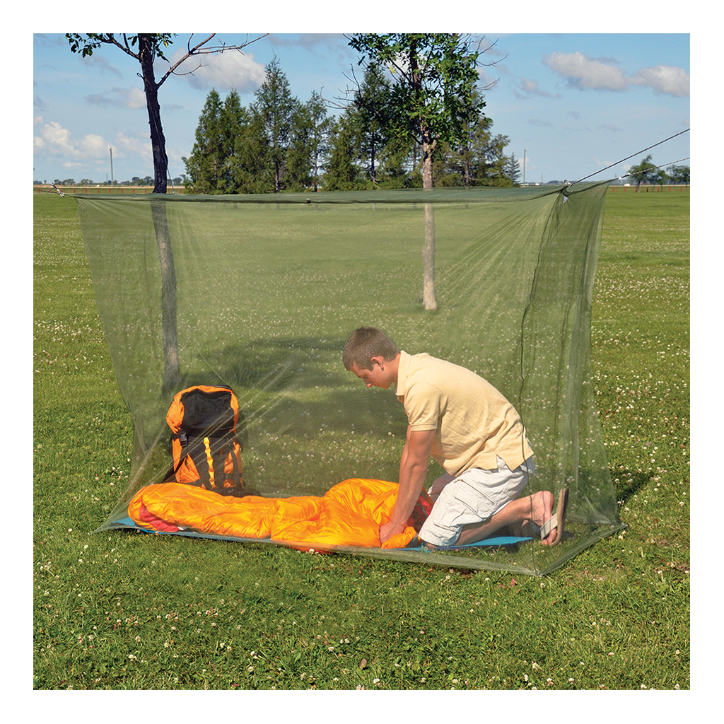 Mosquito net - single green