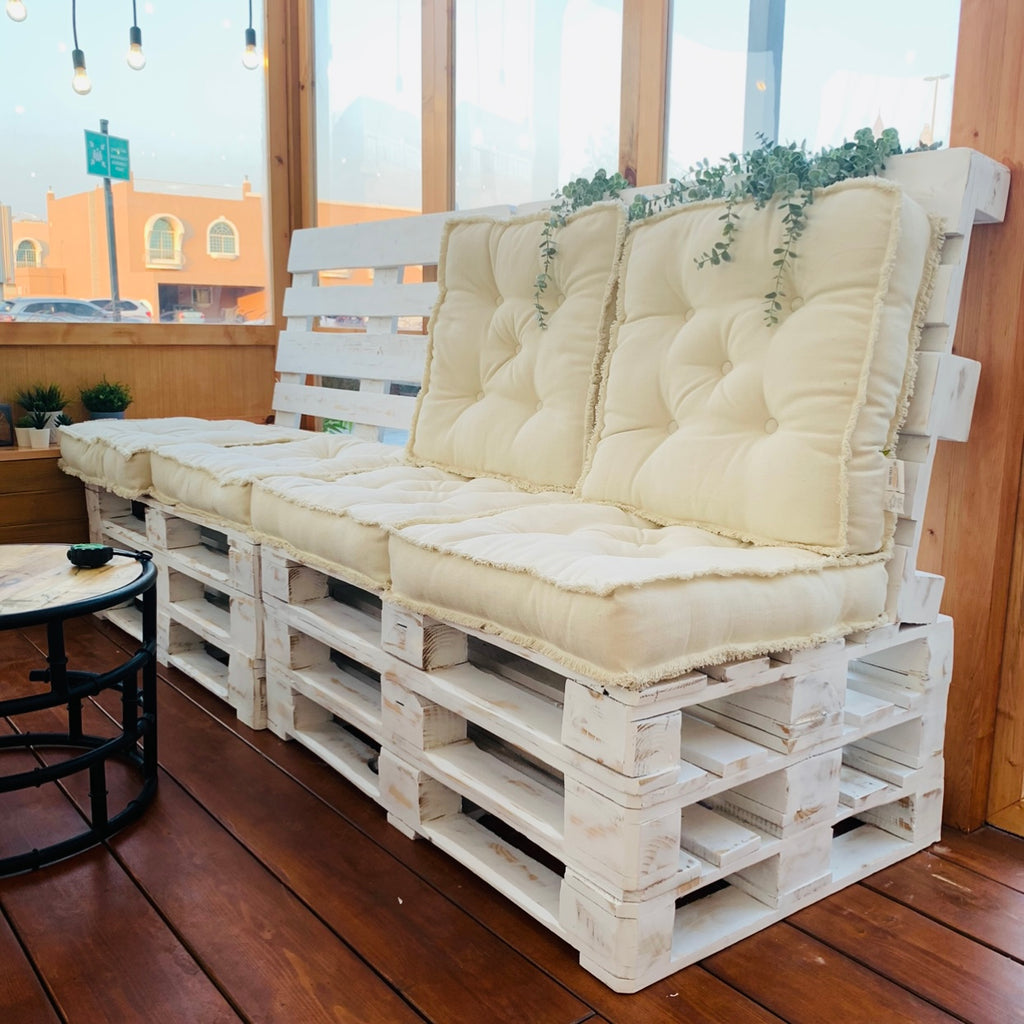 3 Layers Sloping Sofa - rustic white