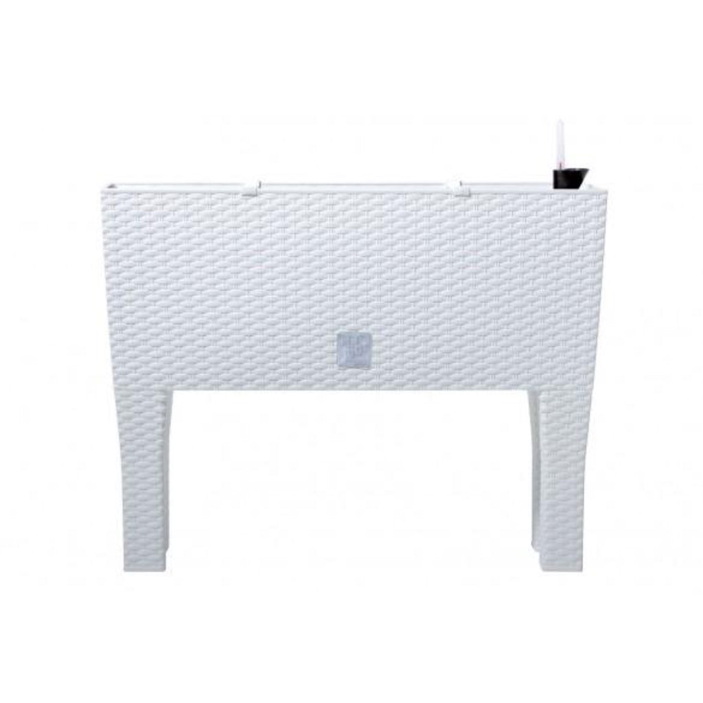 Self-watering flower pot planter Rato case high - White