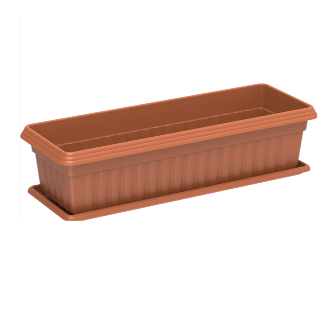 Exotica Planter with tray - Small - Terracotta