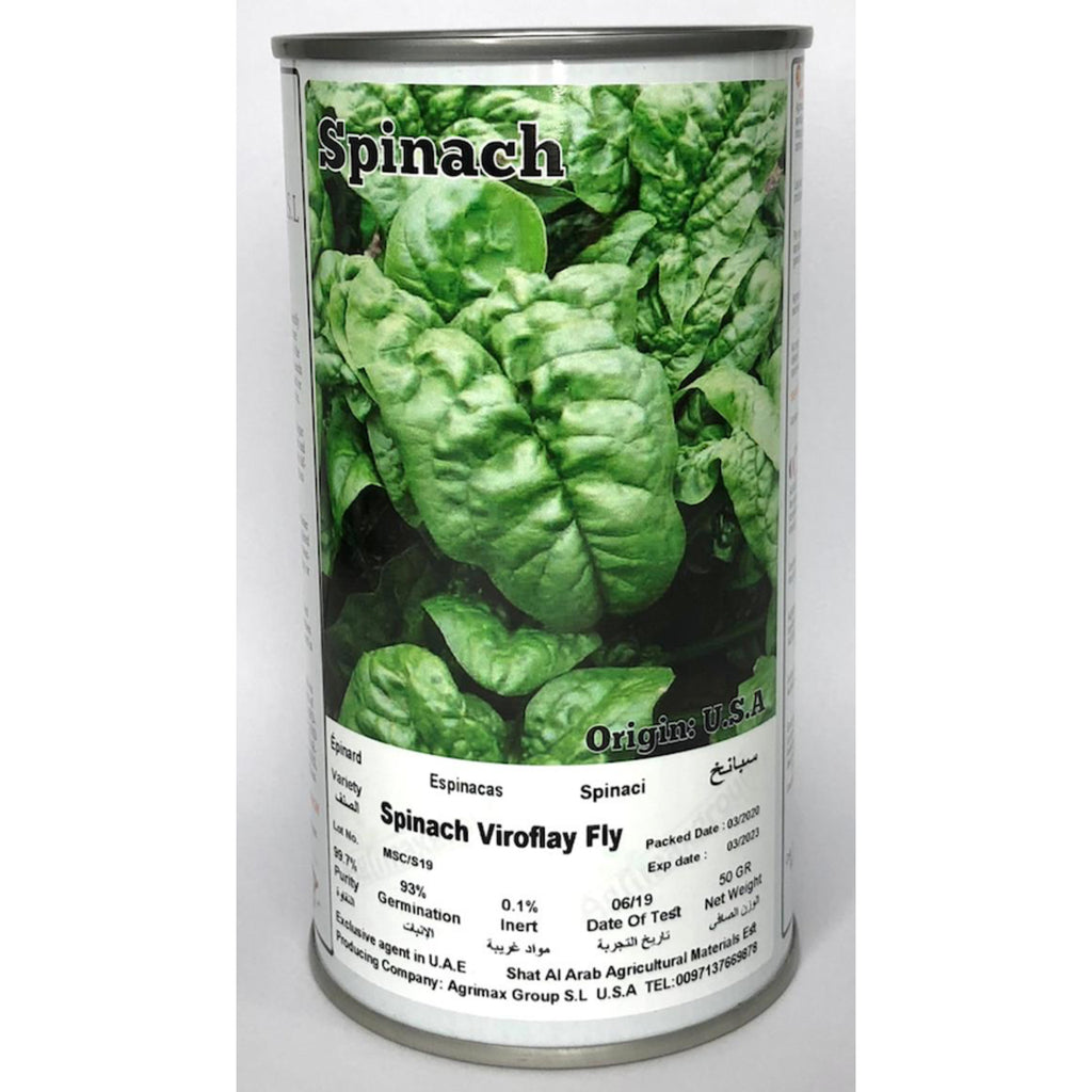 Agrimax Spinach Viroflay - Premium Quality Seeds in Can
