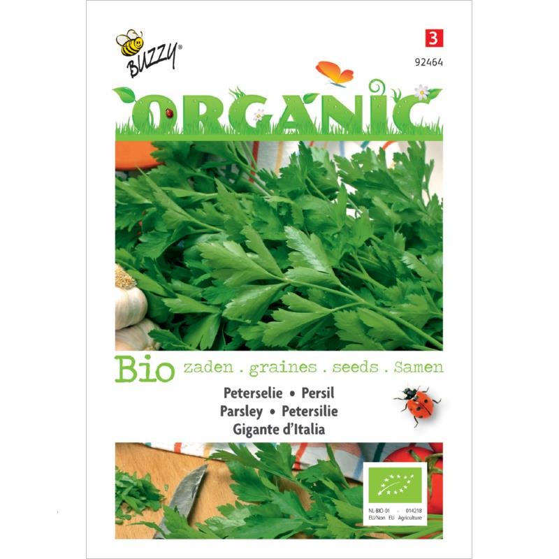 Organic Seeds Parsley Giant Buzzy
