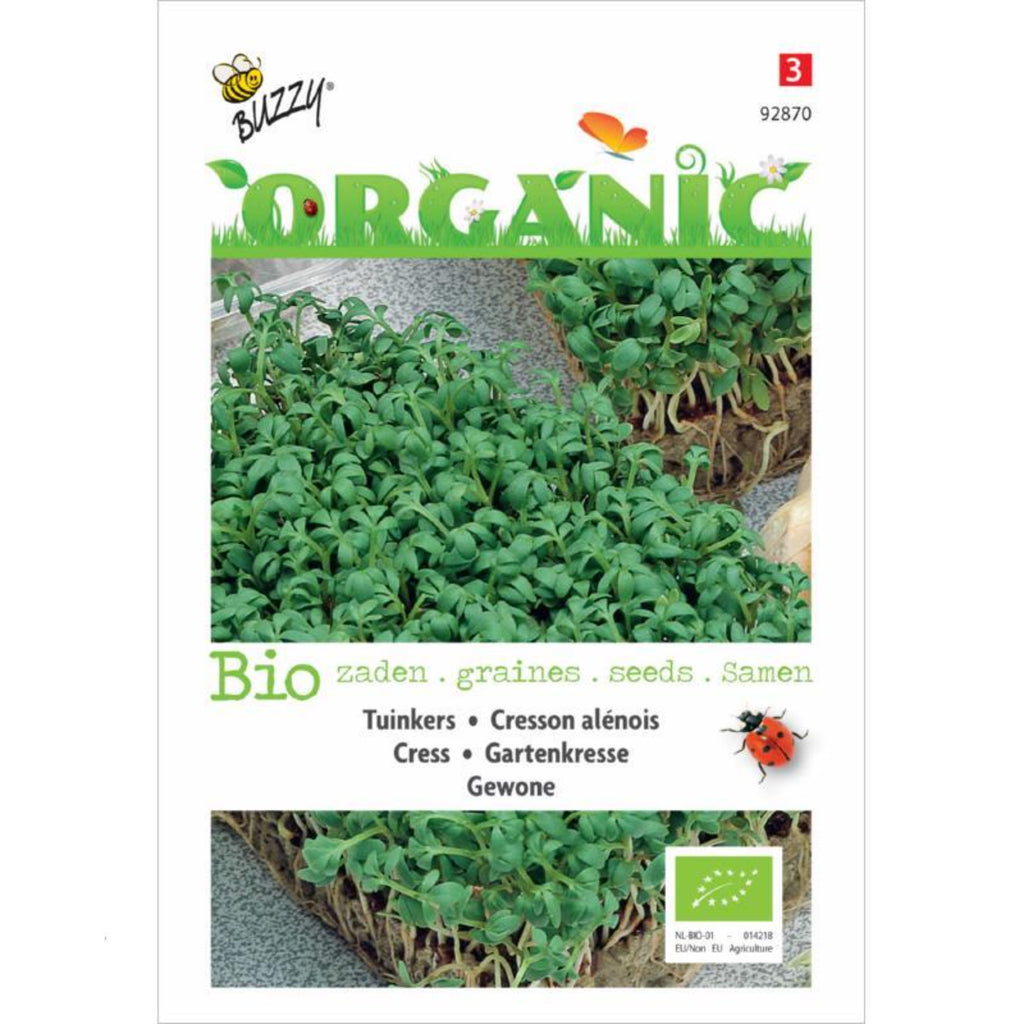 Organic Seeds Cress Buzzy