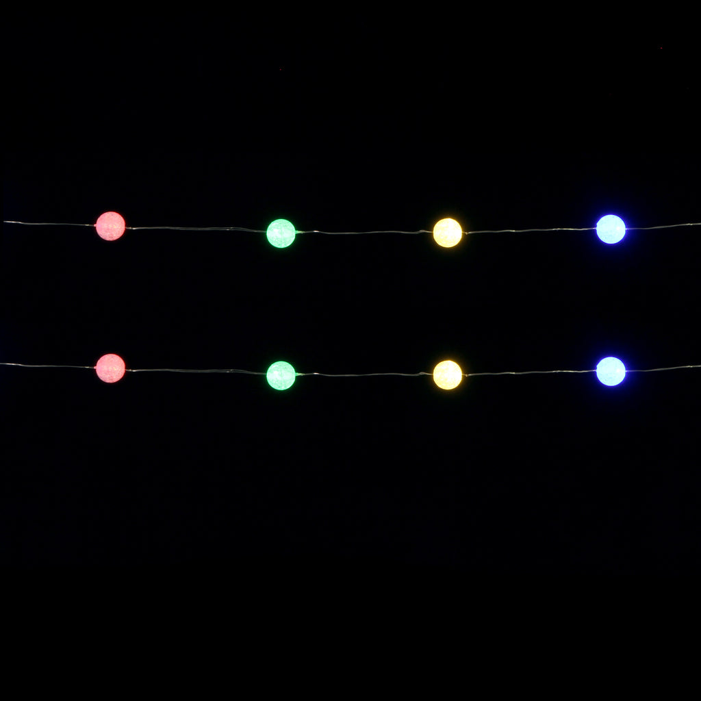 Festive Flashing String Ball Lights 30led, Multicolour