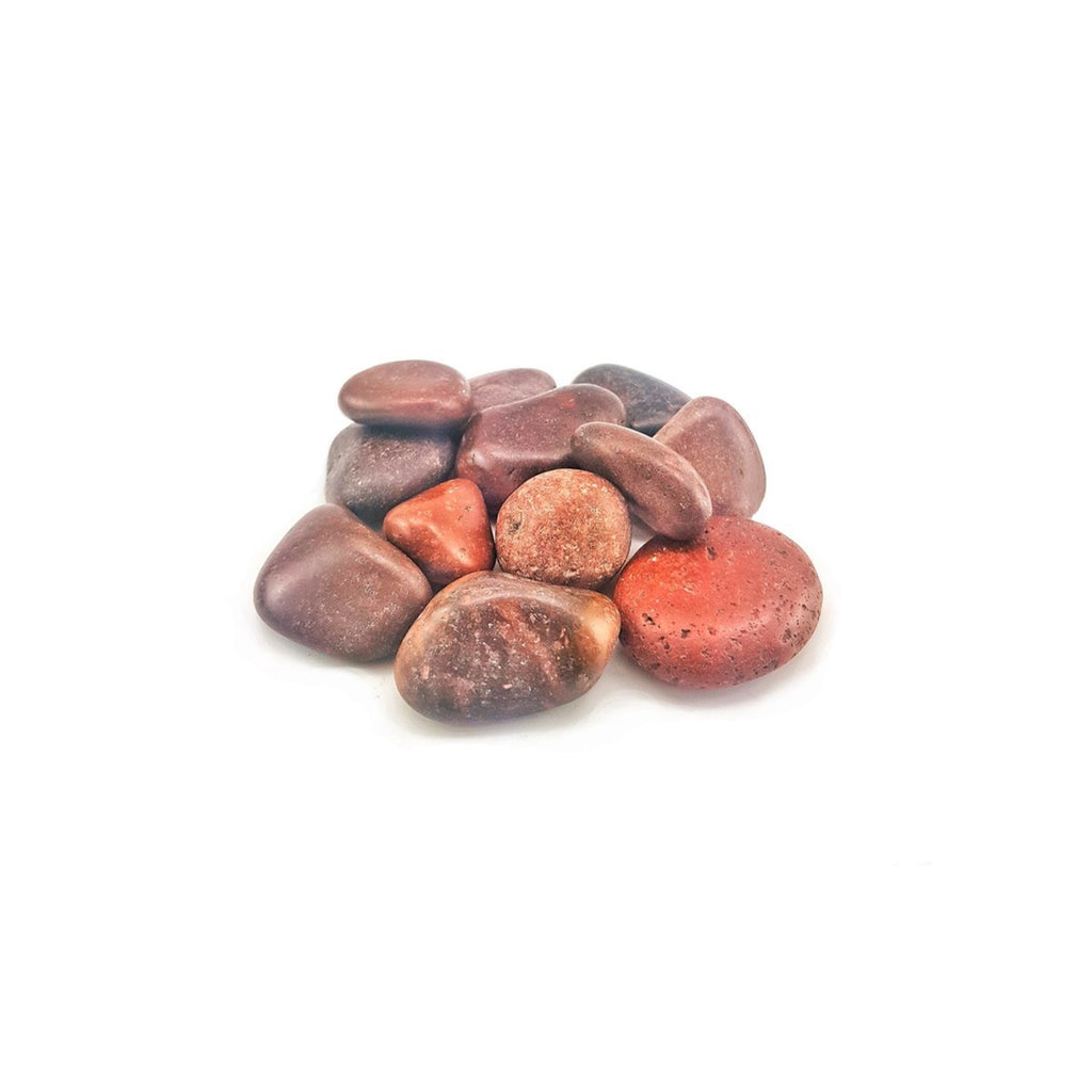 Red Semi-polished Stone Pebbles 2-4cm, 20kg