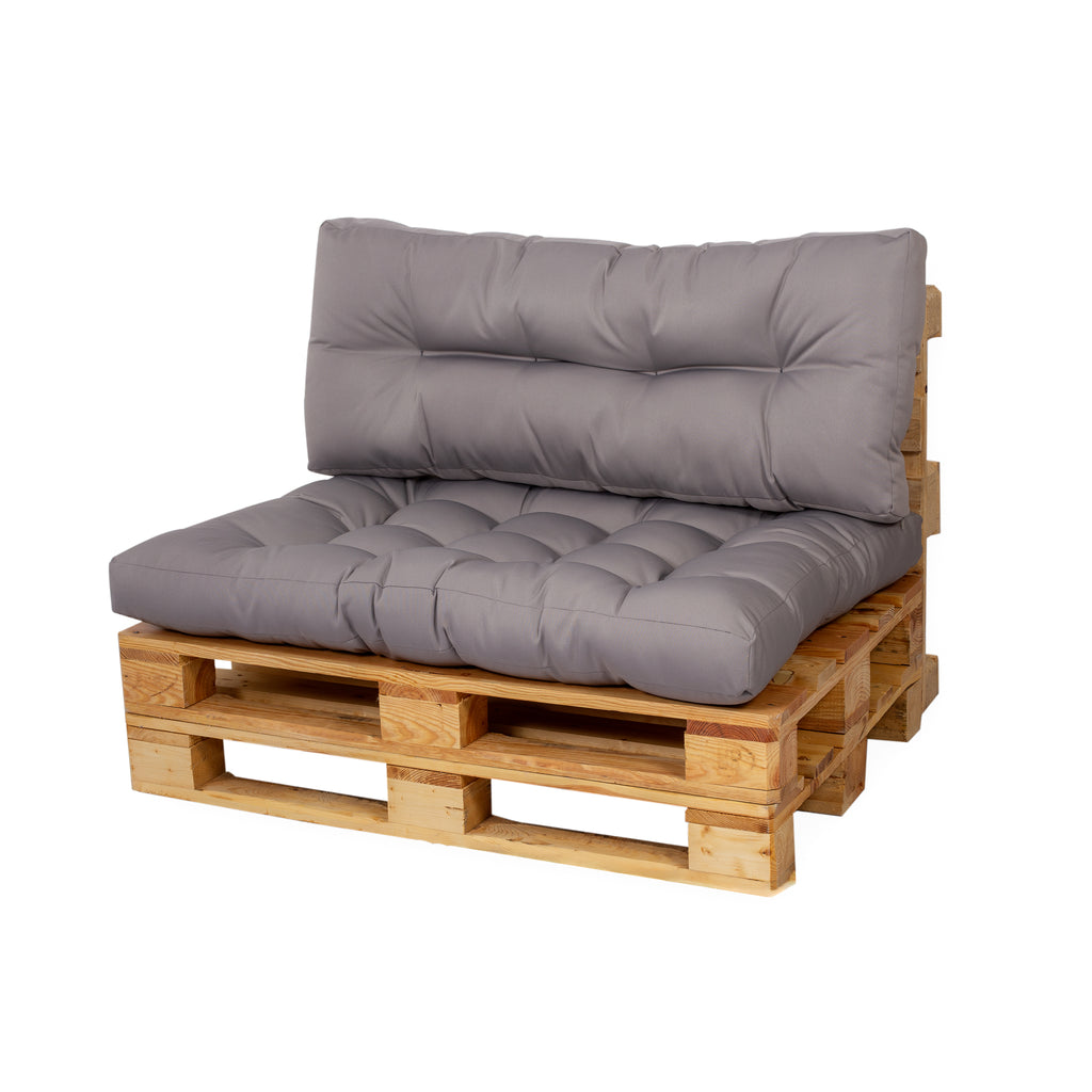 Grey Euro Pallet Padded Cushions