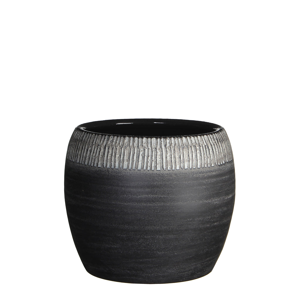 SAFARI Round Pot, Grey