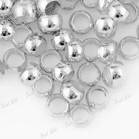 BUY 1 GET 1 FREE CRIMP BEADS CHOOSE 2mm 3mm 4mm & SILVER or GOLD plated