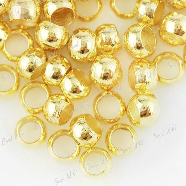 CRIMP BEADS CHOOSE 2mm 3mm 4mm GOLD plated