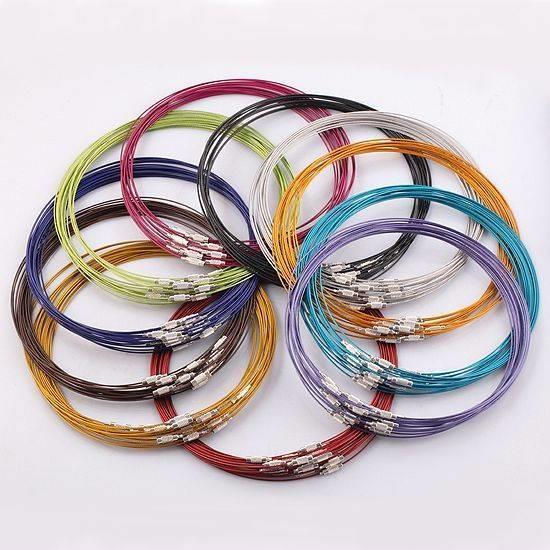 5 or 10 x 25cm MEMORY WIRE BRACELET / BANGLE & CLASP READY MADE COLOUR CHOICE