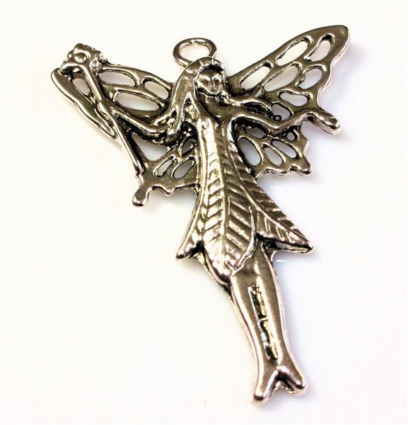 TIBETAN SILVER ANGEL / FAIRY CHARMS PENDANTS 49mm x 39mm 5 OR 10 CHOOSE QUANTITY