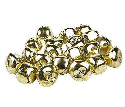 80 GOLD RINGING JINGLE BELLS CHARMS 10mm XMAS TOP QUALITY