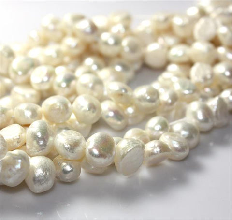 25 pcs 10-11mm Natural IVORY FRESHWATER PEARL BEADS GRADE A