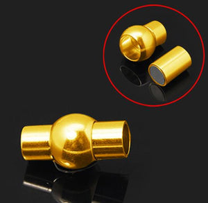PREMIUM QUALITY LARGE GLUE IN MAGNETIC CLASP 6mm HOLE GOLD PLATED ( AF19 )