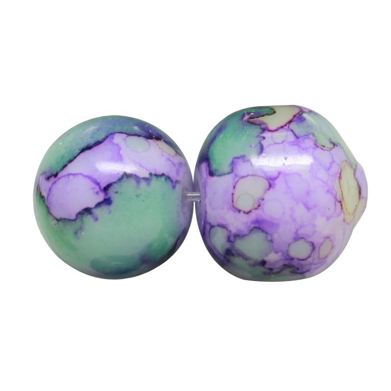 50 'WILD ORCHID' DRAWBENCH GLASS BEADS 8mm PURPLE BLUE TOP QUALITY ( ORC4)