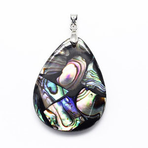 ABALONE SHELL PENDANT PEAR DROP STUNNING UNIQUE 40mm x 30mm