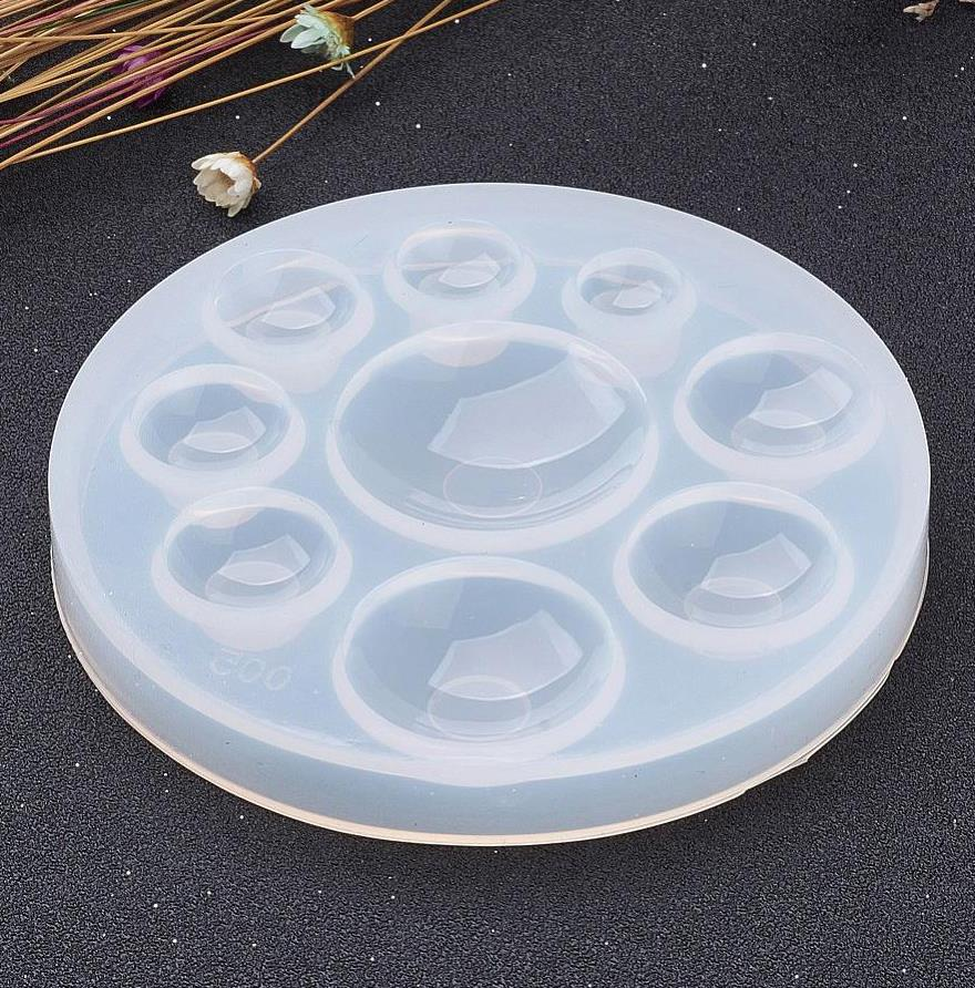 RESIN CABOCHON SILICONE MOULD MOLD HALF ROUND SLM3