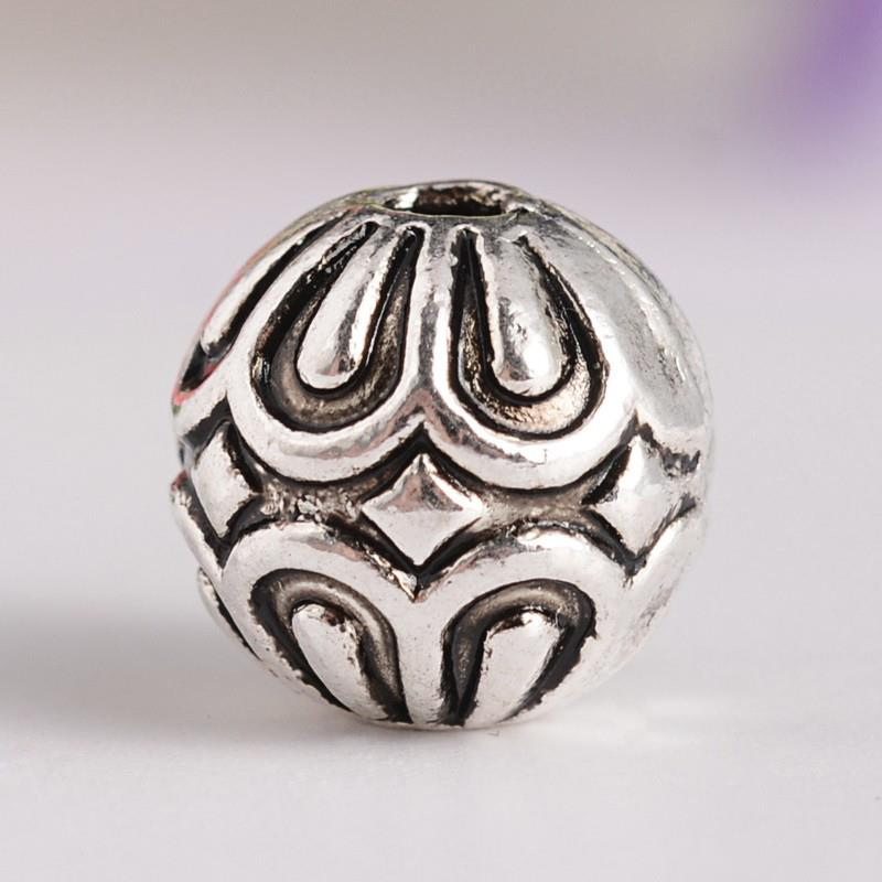 20 TIBETAN SILVER ROUND SPACER BEADS CHARMS 9mm TOP QUALITY TS100