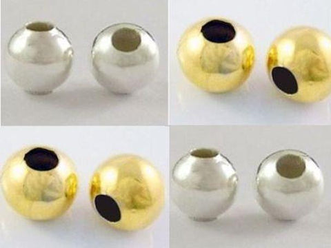 500x 2mm 400x 3mm 300x 4mm ROUND SPACER BEADS SILVER / GOLD PLATED TS61