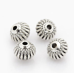 TOP QUALITY 20 TIBETAN SILVER LANTERN SPACER BEADS 8mm (TS1)