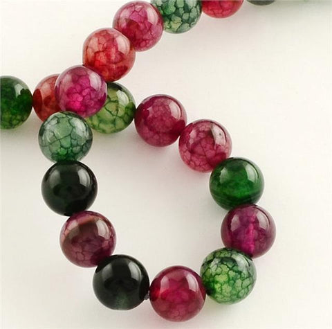 PREMIUM QUALITY TOURMALINE ROUND GEMSTONE BEADS 10mm 20 Beads ASSORTED COLOURS