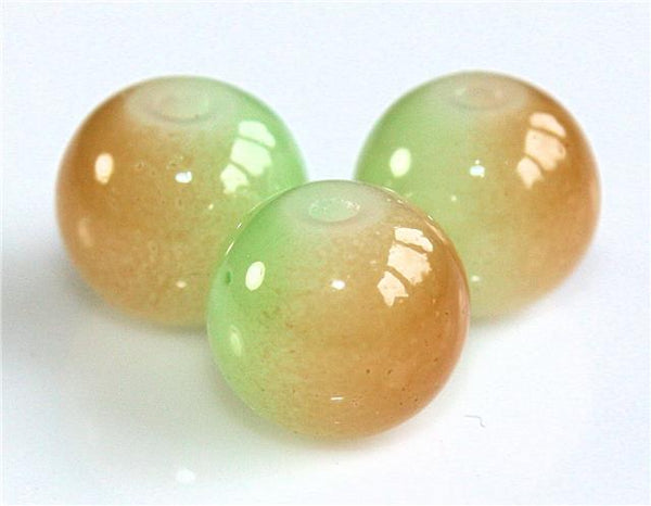 TWO TONE COLOURED GLASS BEADS choose 6mm 8mm 10mm NEW 2014 STUNNING