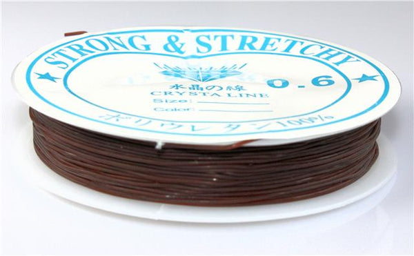 0.8MM 12m STRONG STRETCH ELASTIC THREAD CORD WIRE 10 COLOUR CHOICE