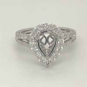 Diamond pair shaped ring without center piece