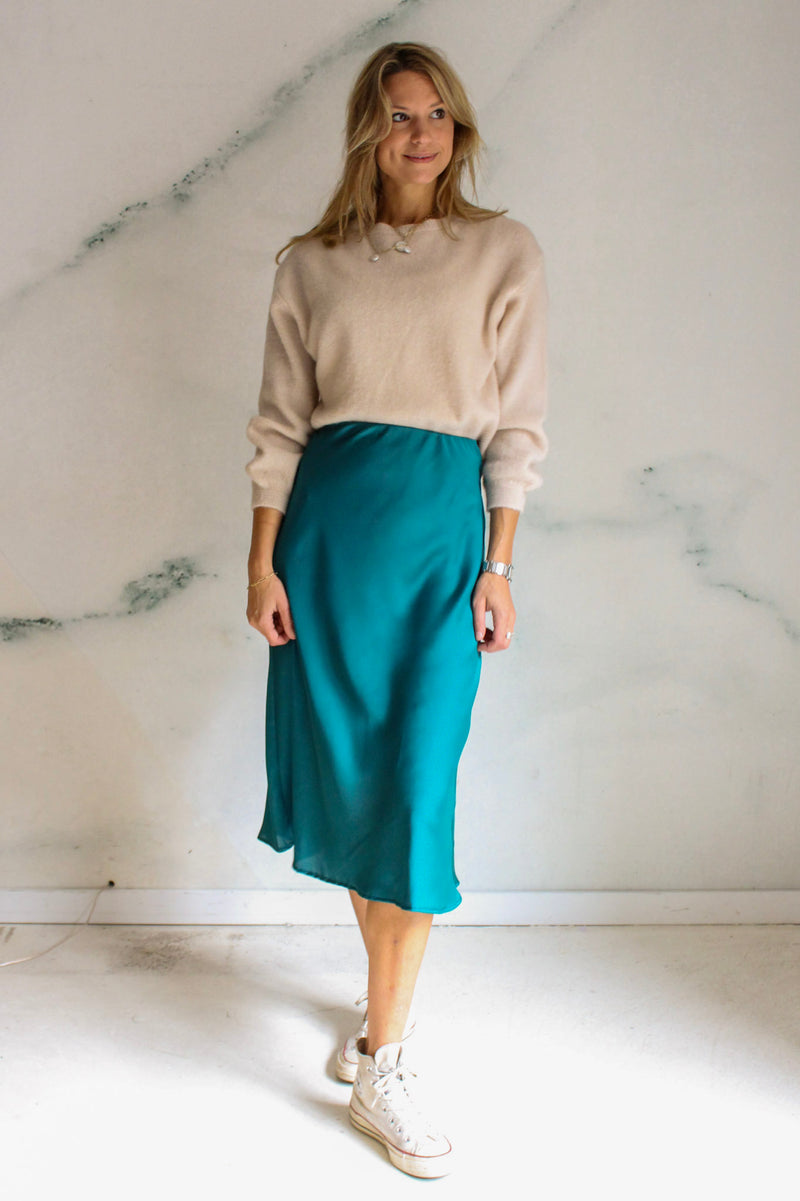 Silky midi skirt /+ 3 colors