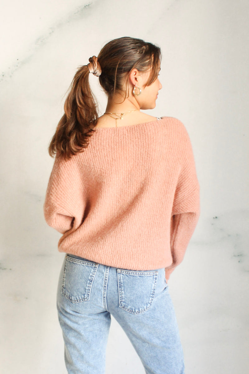Sweater fine knit Salmon