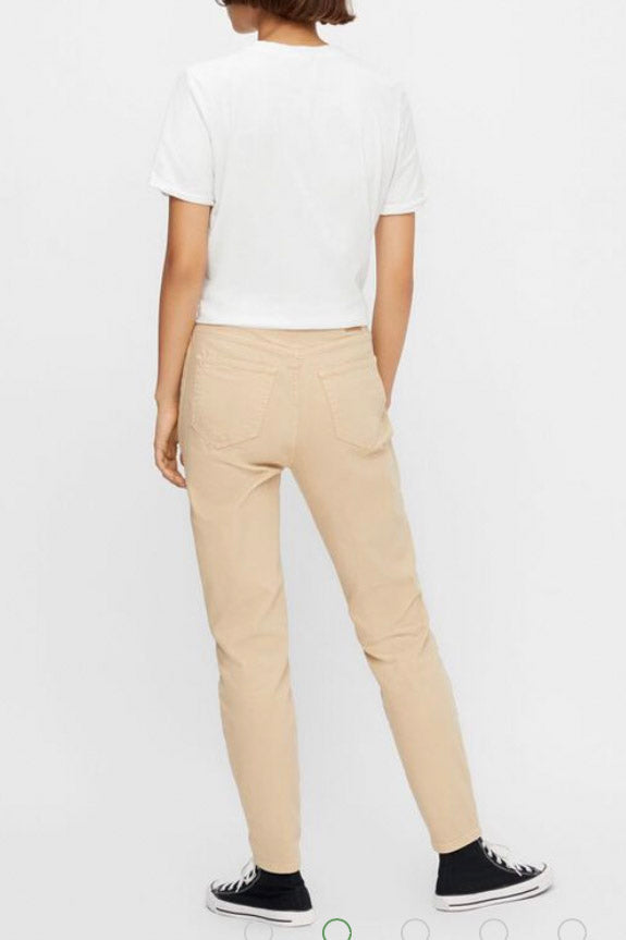 Mom jeans beige