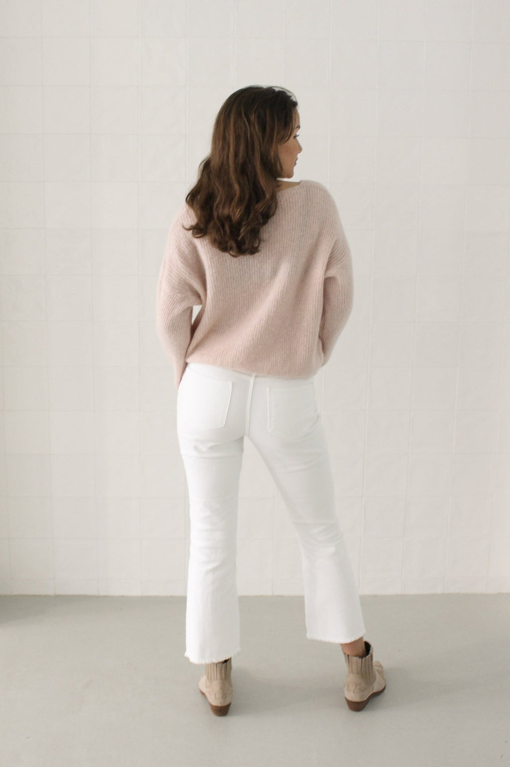 Sweater fine knit Light pink