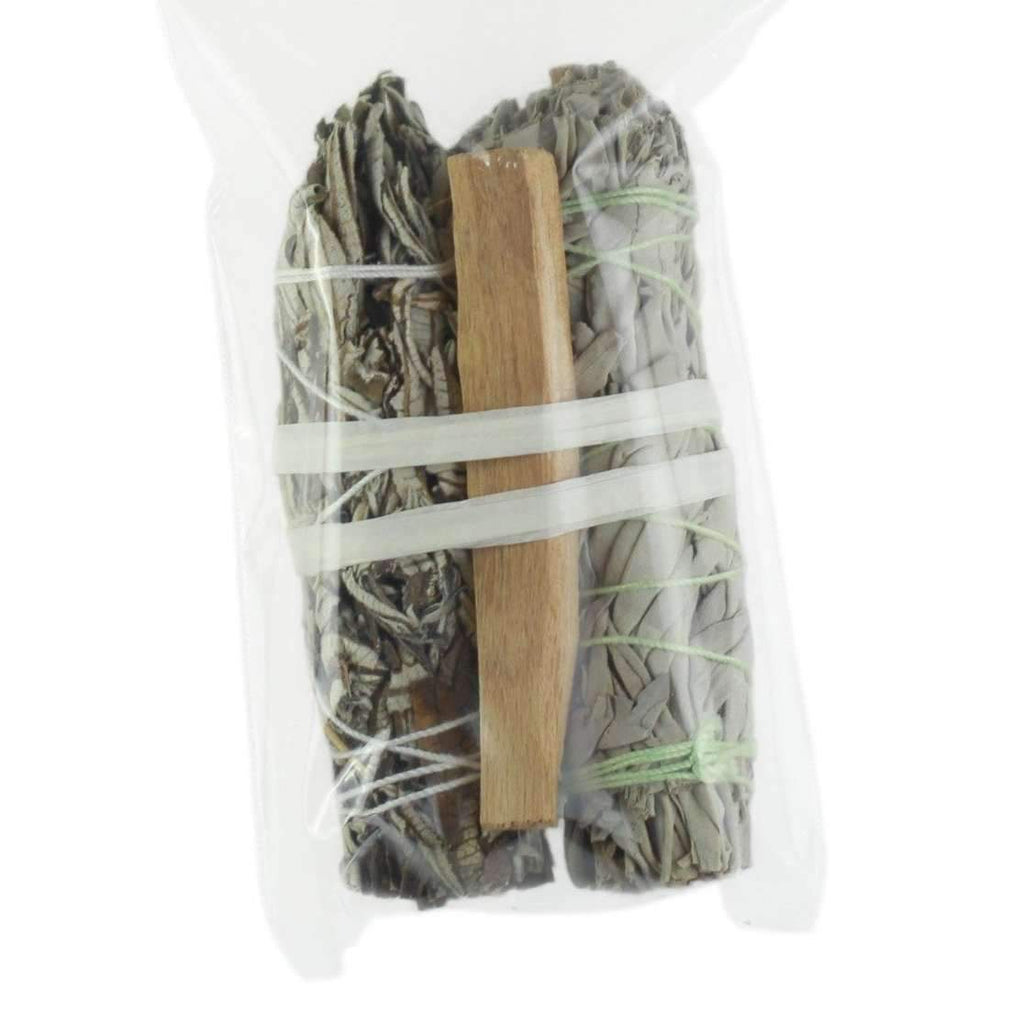 Smudging Kit - Palo Santo , white Sage and Yerba Santa