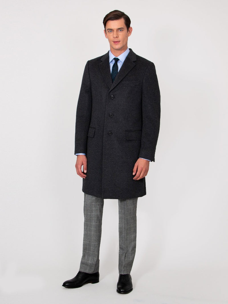 Wool & Cashmere Covert Coat