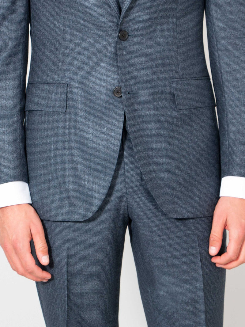 RAF Blue Wool Houndstooth Suit