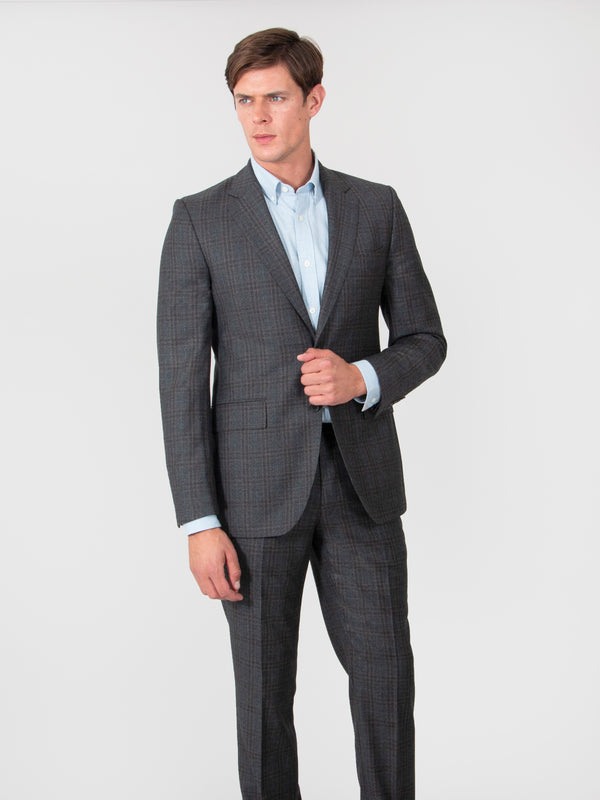 Charcoal Tonal Check Superfine Wool Suit