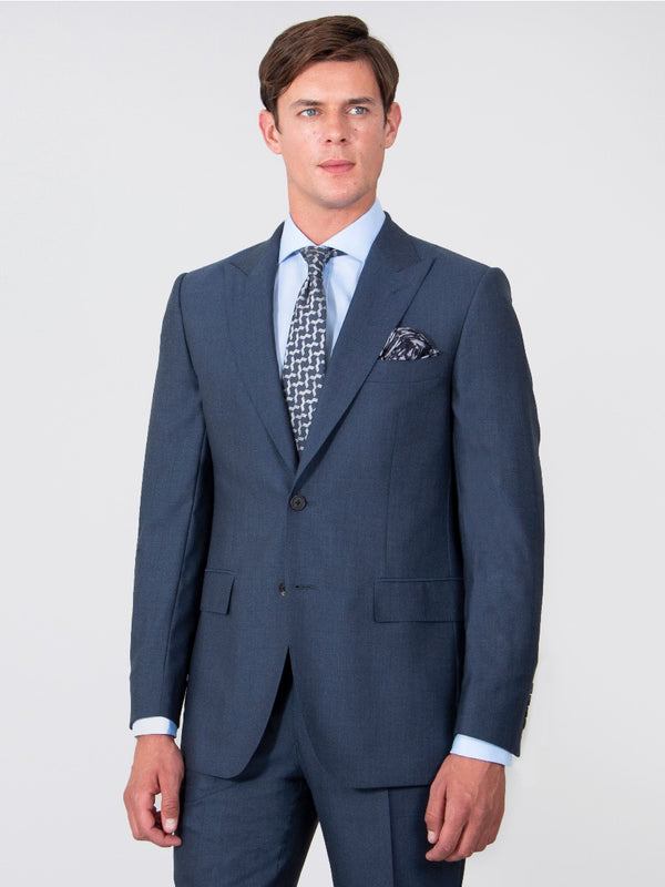 Raf Blue Peak Lapel Suit Jacket