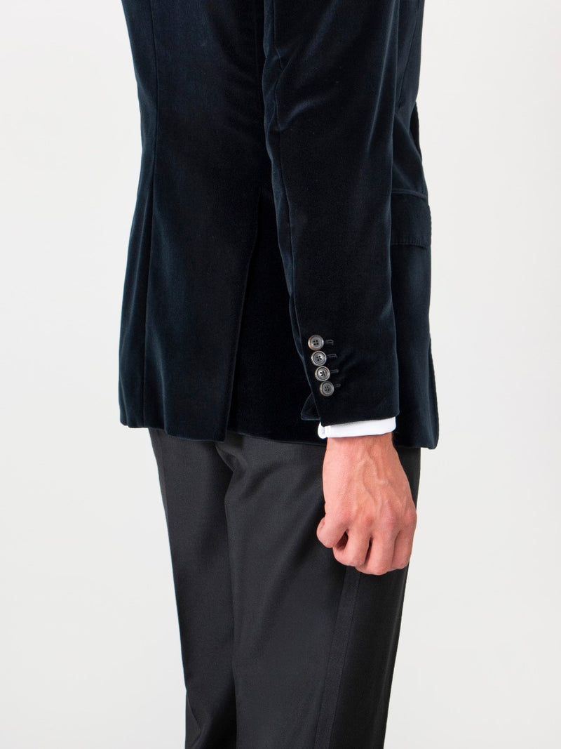 Velvet Single-breasted Jacket