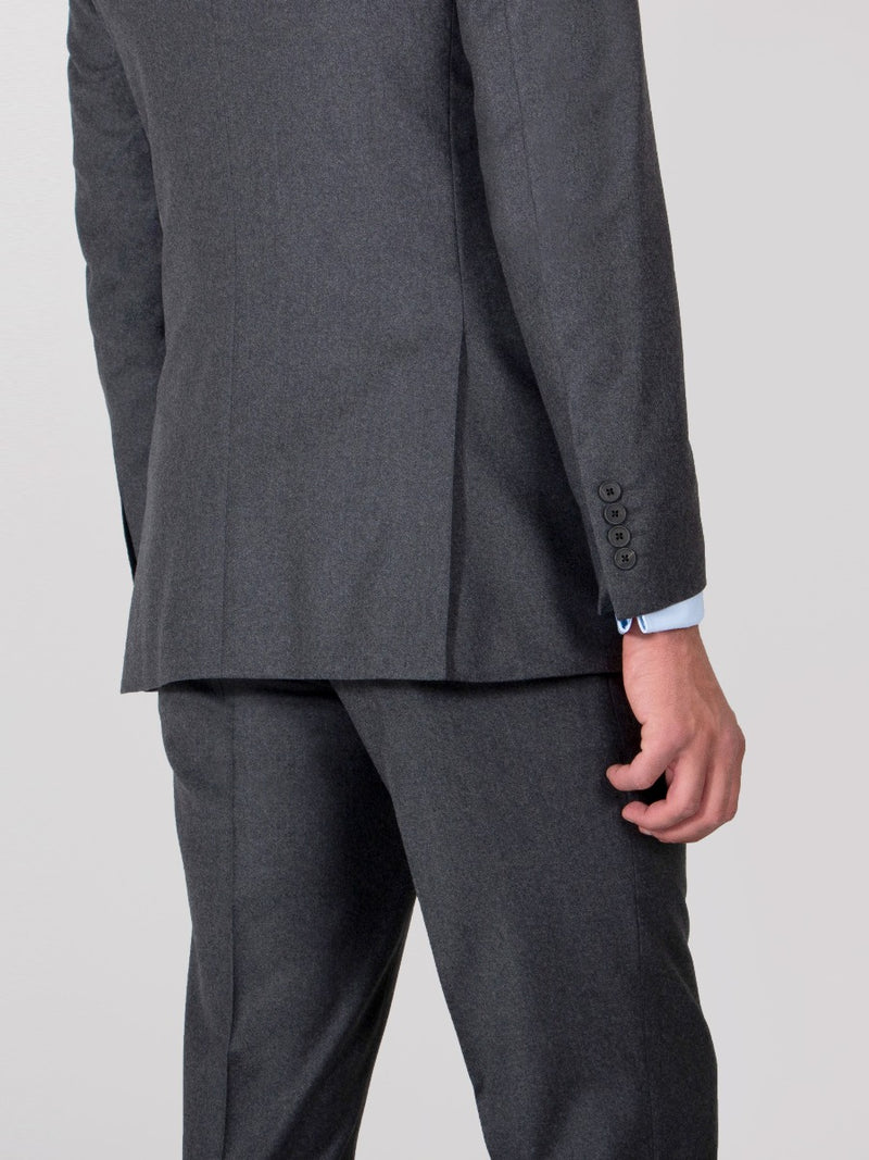 Charcoal Luxury Lightweight Flannel Suit Jacket