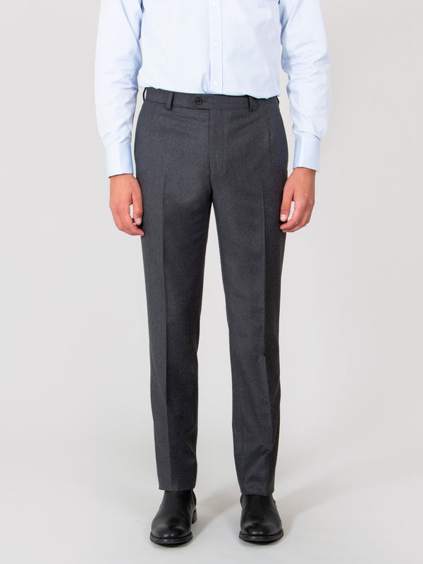 Charcoal Luxury Lightweight Flannel Suit Trousers